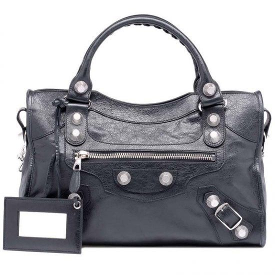 e7a90e8fbd0ec new fashion Balenciaga Giant 21 Silver City Black Womens Handbag sales  online