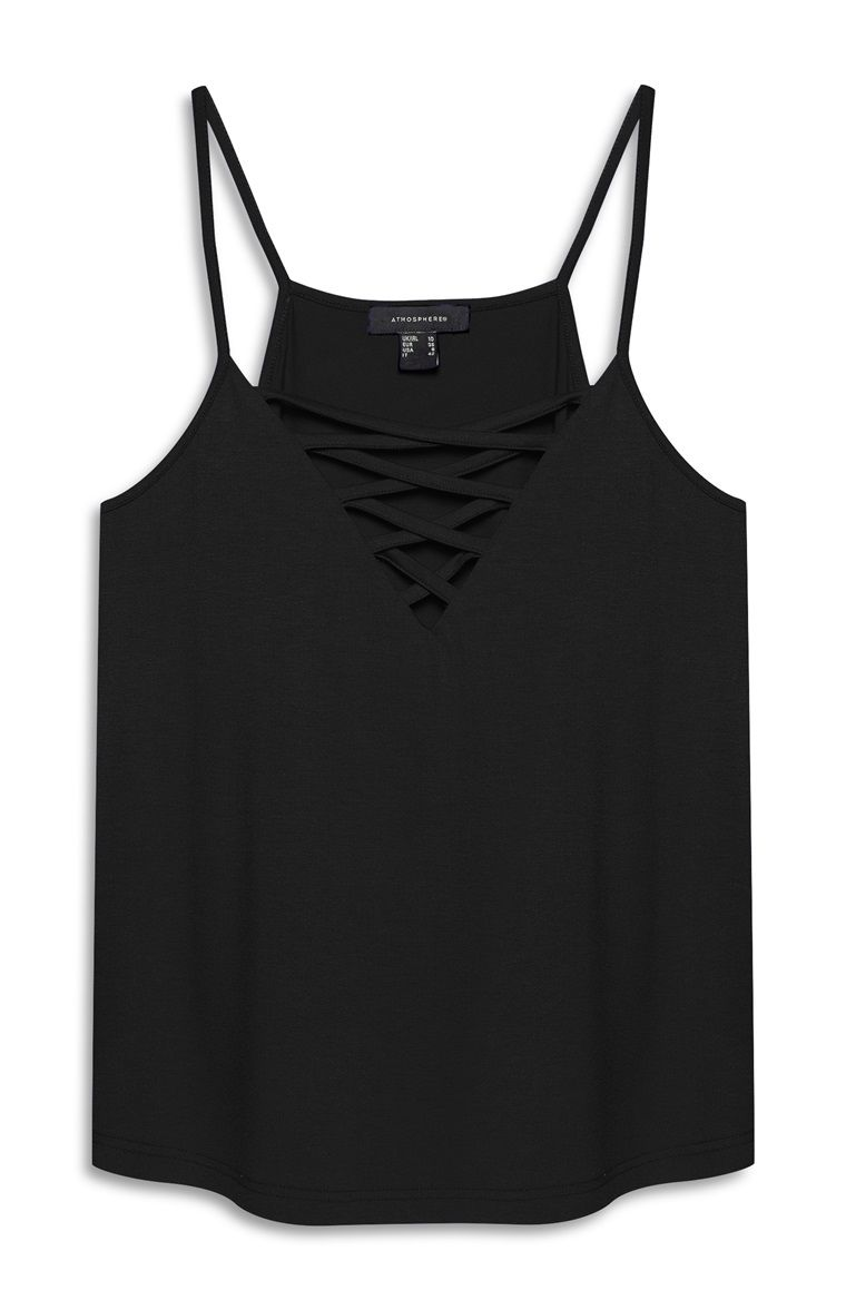 942d8a2cbca Primark - Black Cross Front Cami Top - £4 | Stuff for spring and ...