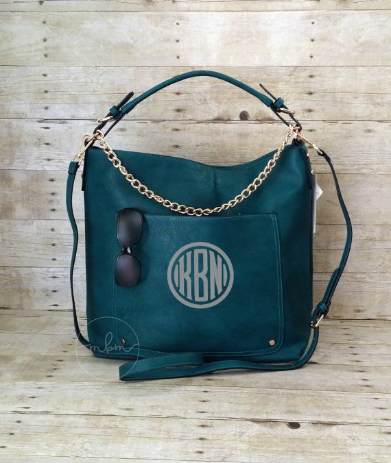 Monogram Purse Monogrammed Dark Teal Purse by MaBrownMercantile ... a650e45fb1f84