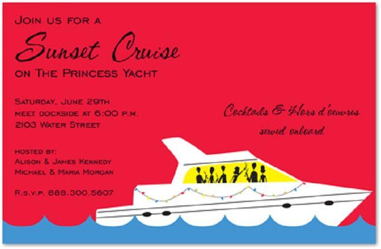 Boat Party Invitation Templates