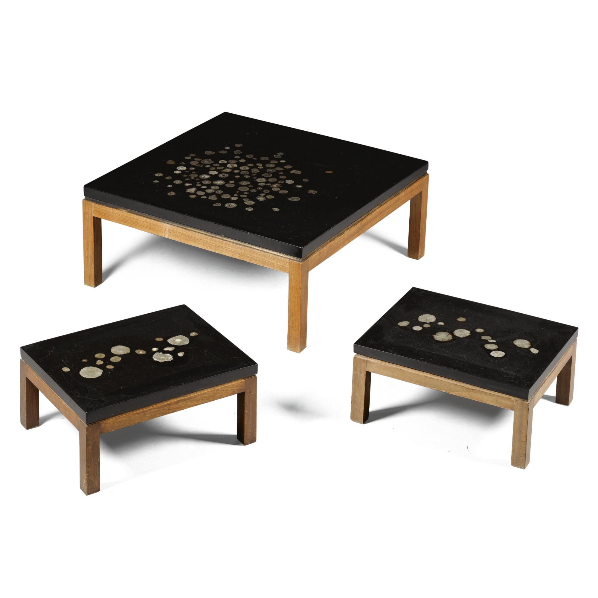 ADO CHALE A RARE SET OF THREE COFFEE TABLES | T A B L E - D E S K ...