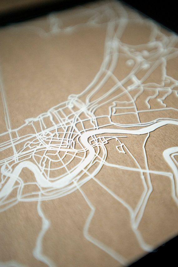 New Orleans No 1 Drawing On Glass 模型 Architekturmodell