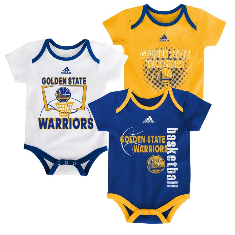 meet d1cd9 80f89 Warriors Infant 3 Point Bodysuit Set | Golden State Warriors ...