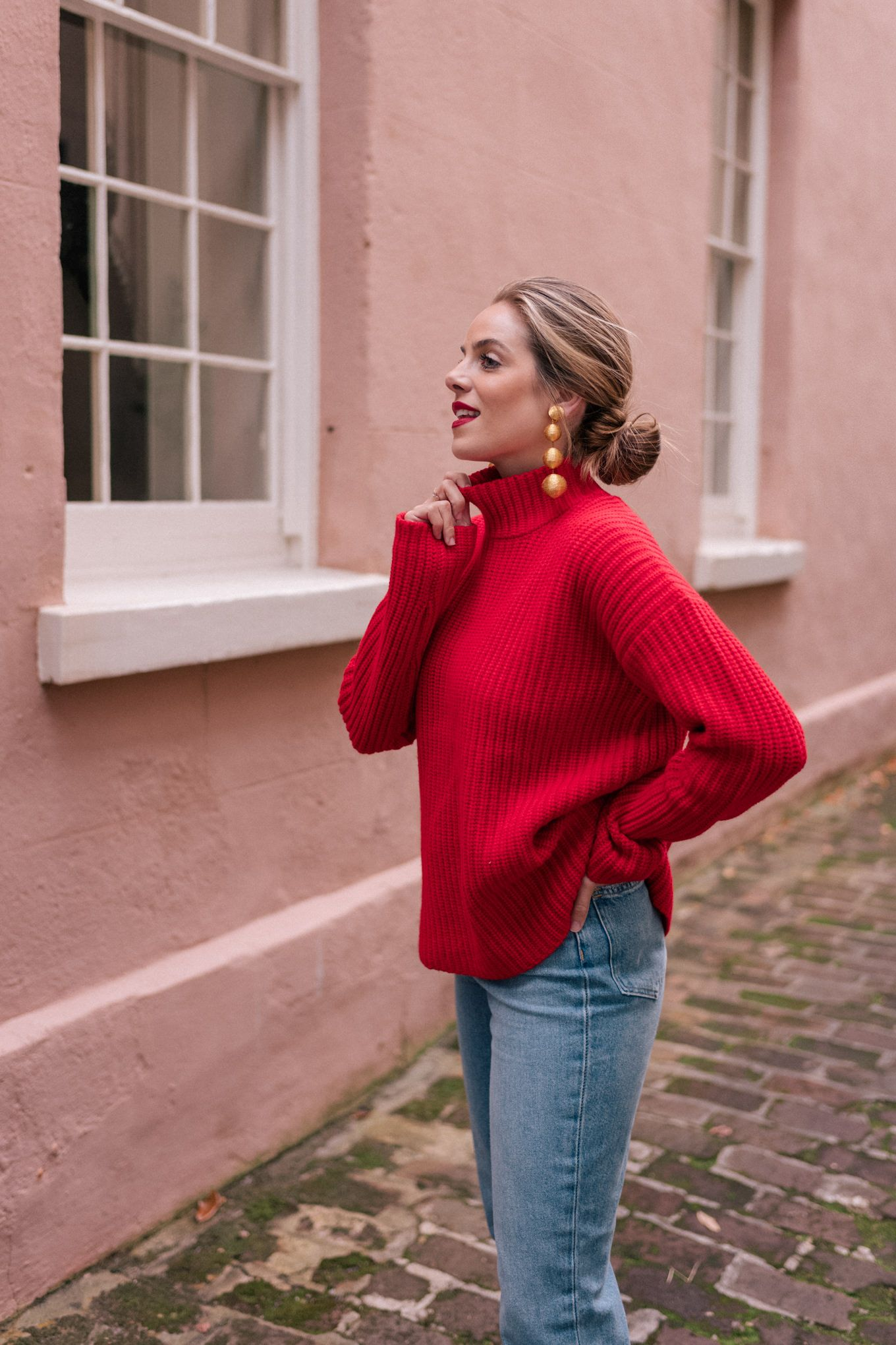 The Perfect Red Holiday Sweater – Gal Meets Glam