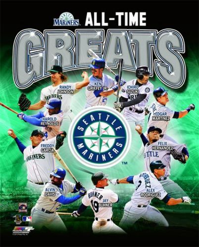 b7930cc4ec Seattle Mariners Baseball All-Time Greats (10 Legends) Premium Poster Print  - ~available at www.sportsposterwarehouse.com