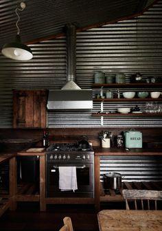 Corregated Tin Roofing As Kitchen Backsplash Corrugated Metal