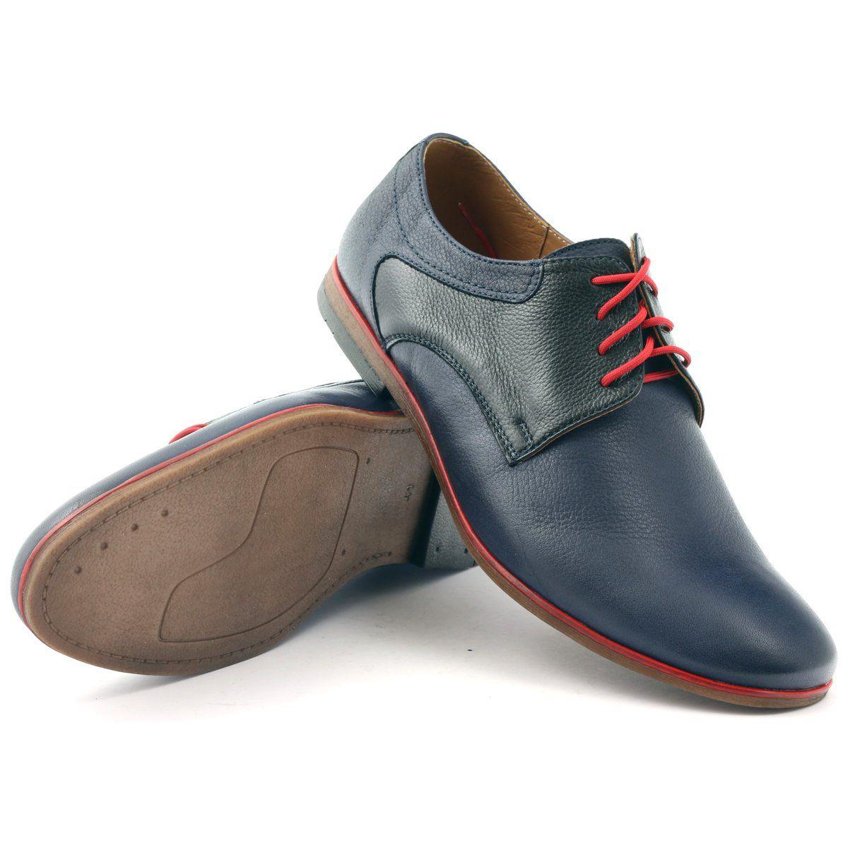 Polbuty Meskie Moskala H 5 Granatowe Czarne Czerwone Dress Shoes Men Shoes Men S Shoes