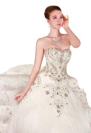 Passat Women's Luxury Wedding Dresses Cathedral Train