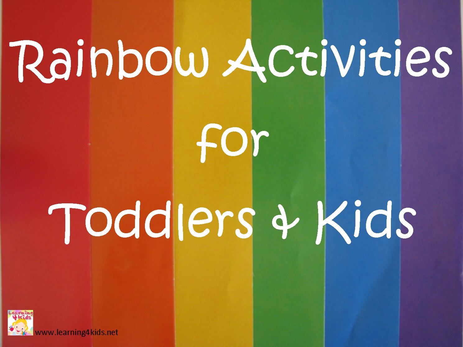 rainbow activities for toddlers u0026 kids rainbows rainbow