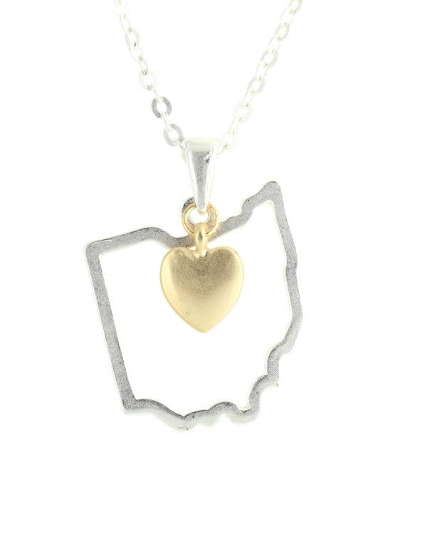 Ohio state pendant necklace jewelry cents of style 1 state necklace cents of style state necklaces united states necklace affordable fashion accessories aloadofball Gallery