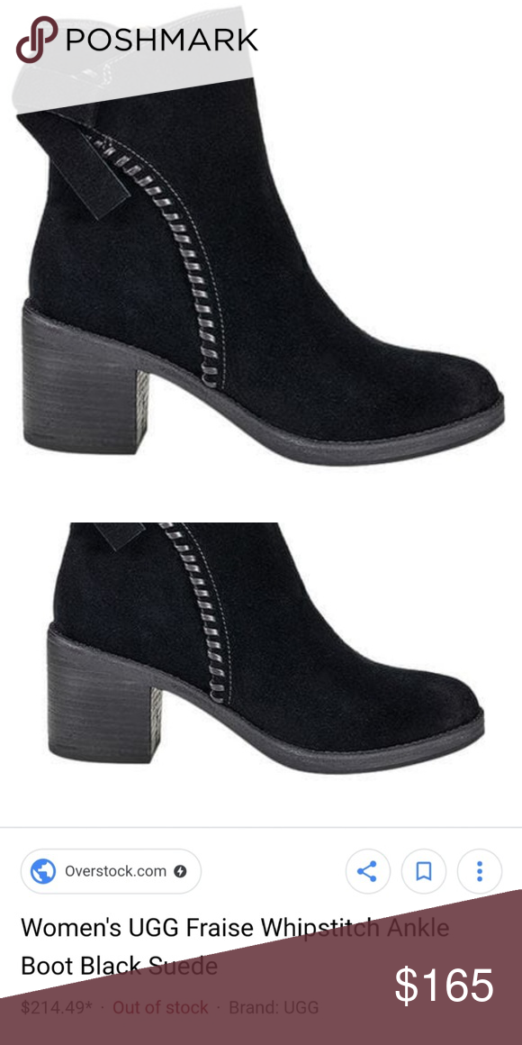 a7dc54f0be4 NWB UGG Whipstitch Ankle Boot Black Suede Complete your chic look ...