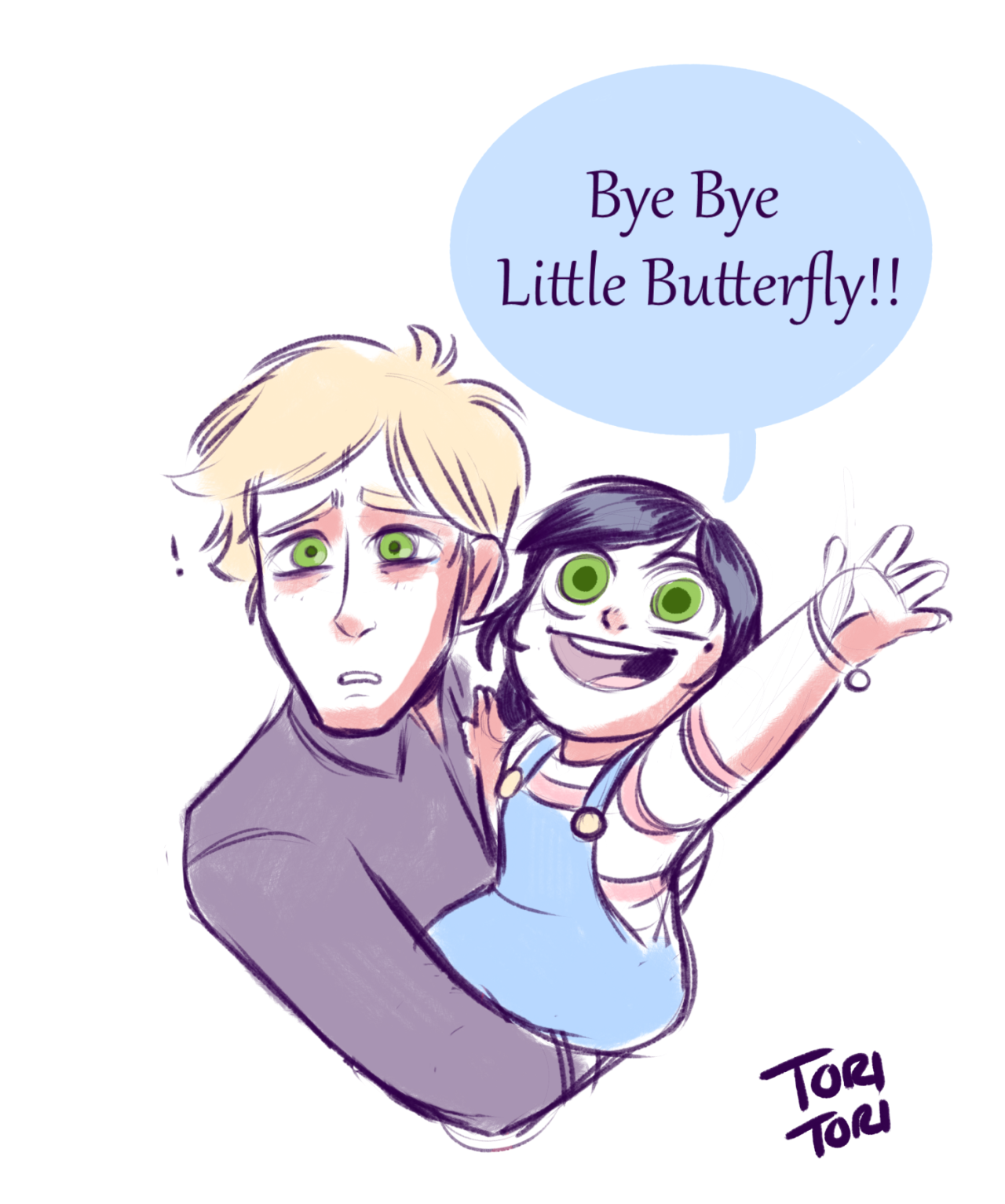 Howdy — AU where Marinette died during child birth… *lays