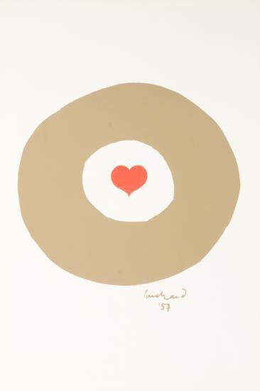 Paul Rand, 1957, heart poster.