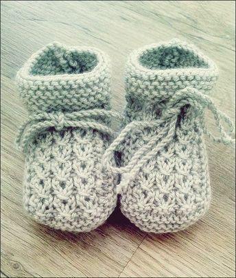 Photo of Strickanleitung Baby Booties #strickanleitungbaby Quelle: Rest Wolle oder Baumwo…