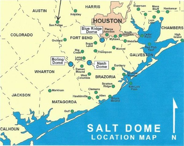 Texas Energy Exploration LLC: Salt- Dome Locations in the ...