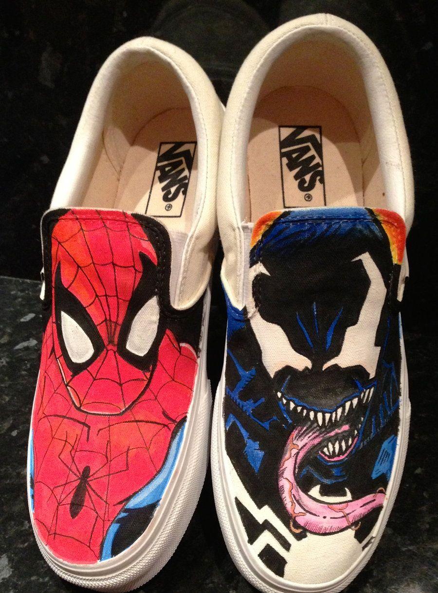 661c51e718f1 Spiderman Vs Venom Vans by VeryBadThing.deviantart.com on  deviantART
