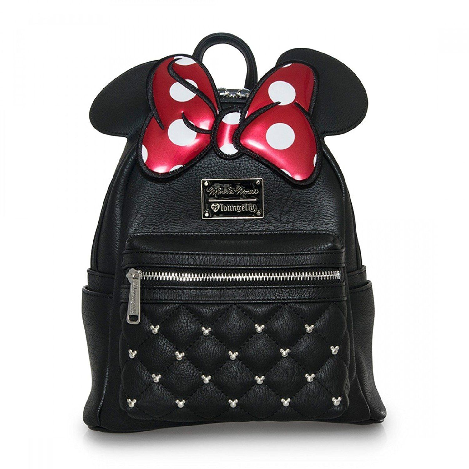 Women Lady Girls Mickey Mouse Ears With Sequin Faux Leather Backpack