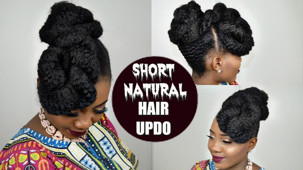 Hair Style Natural Hair Short Natural Hair Updo Tutorial Beginner Natural Hair Updo Natural Hair Updo Tutorial Natural Hair Styles
