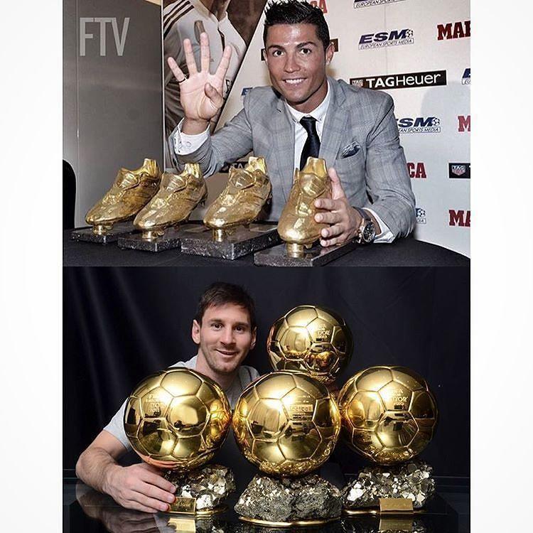 Cristiano Ronaldo 4 Botas De Oro Maximo Ganador 3 Balones