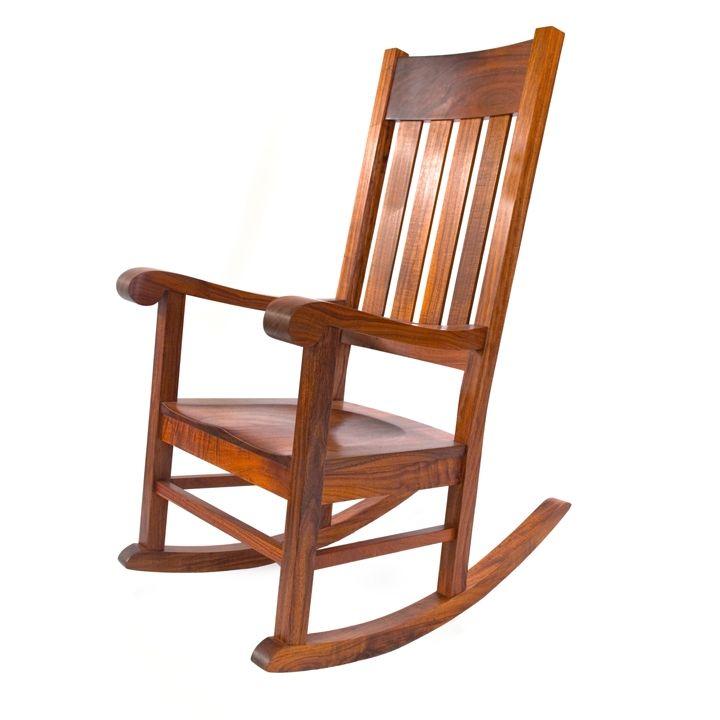 Awe Inspiring Queen Emma Koa Wood Rocking Chair Martin Macarthur Machost Co Dining Chair Design Ideas Machostcouk