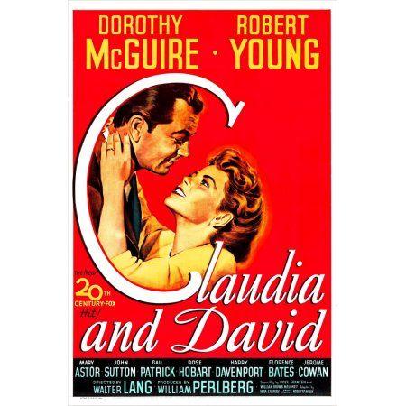 Claudia And David Canvas Art 11 X 17 Classic Films Dorothy Mary Astor