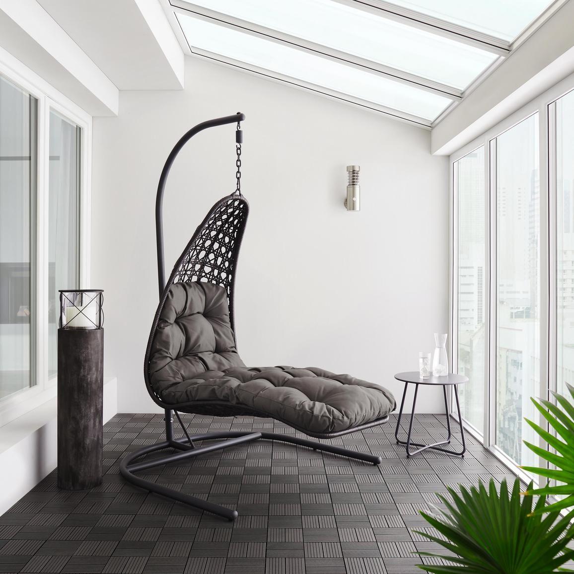 Hangesessel Betty Inkl Auflage Dunkelgrau Modern Kunststoff Textil 118 196 160cm Modern Living Hangesitz Grau Mobel Sale