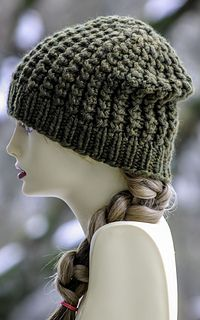 dd0296b7d42 This easy but fun hat is made with roughly 100 yards of super bulky yarn  and size US 11   15 needles. Looks great on both men and women - and I ...