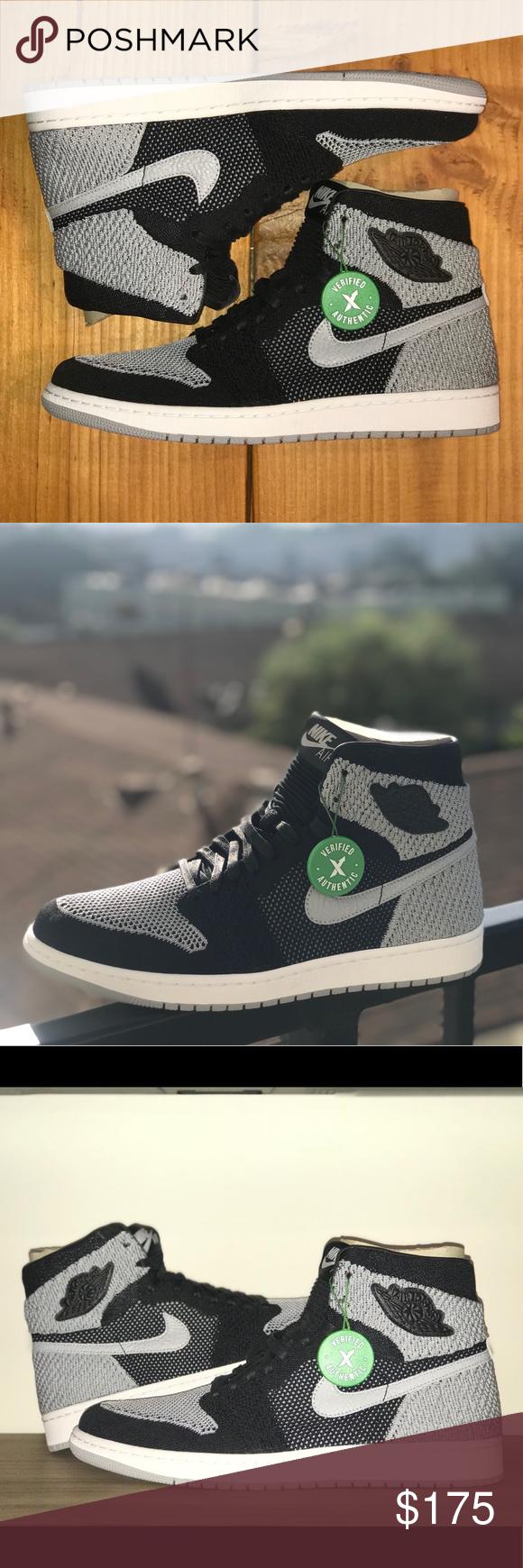 "cheaper e6e43 c9a0b Jordan 1 Retro High Flyknit ""Shadow"" Men s Jordan 1 Retro High Flyknit "" Shadow"" Released 1.13.18 Retail  180 Deadstock Brand New StockX Verified  Nike Shoes ..."