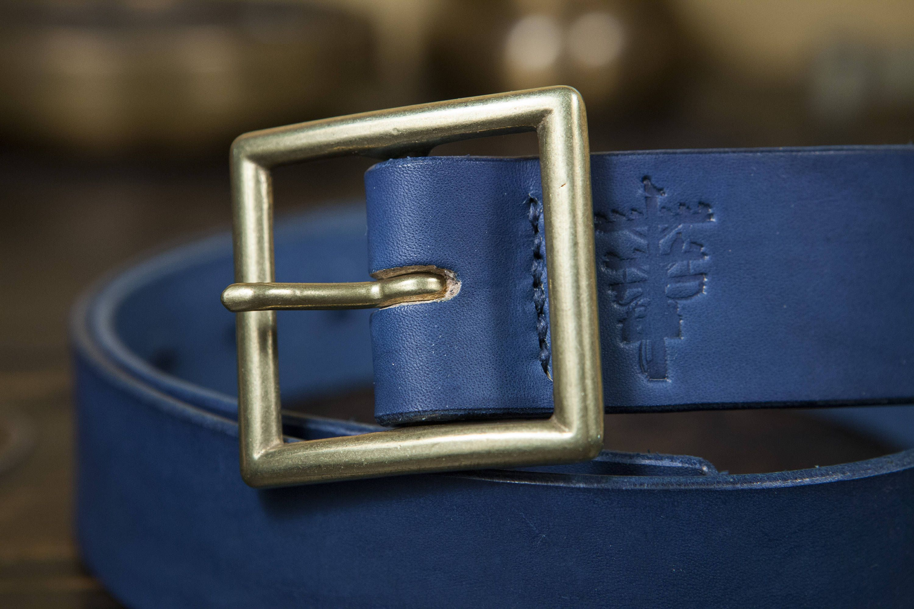 The Garrison Buckle That I Ve Chosen For This Belt While Very Simple In Design Is Made In Japan Of The Highest Qua Natural Indigo Dye Indigo Dye Brass Buckle