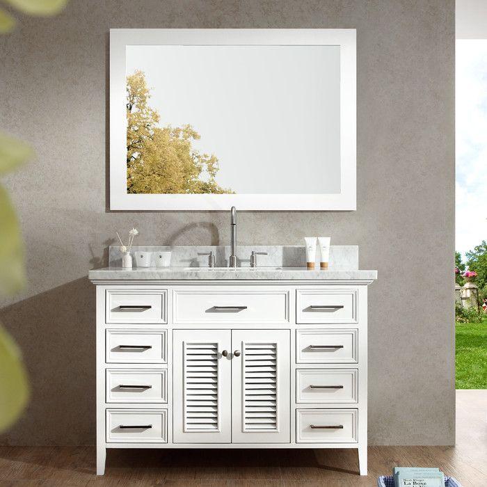 Inspiration Web Design Ariel Bath Kensington Single Bathroom Vanity Set with Mirror u Reviews Wayfair