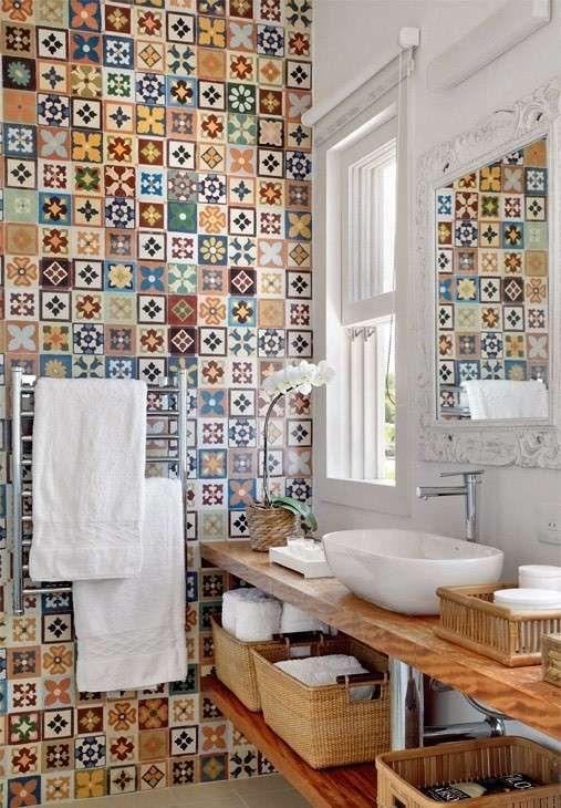 Piastrelle Piccole Per Bagno.Piastrelle In Ceramica Bathroom Remodeling Funky Bathroom