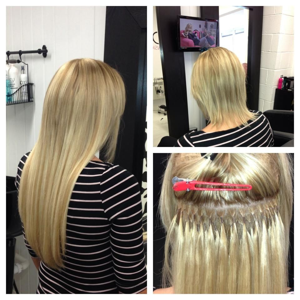 Full Head Of Pre Bonded Hair Extensions In 16 Inch Book An