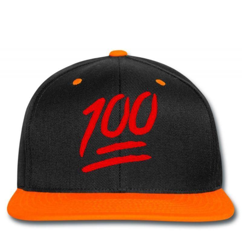 100 emoji embroidery Snapback