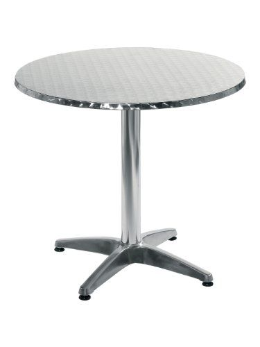Eur Style Allan Round Stainless Steel Top IndoorOutdoor Bistro Table with Aluminum Base 315Inch *** Read more at the image link.