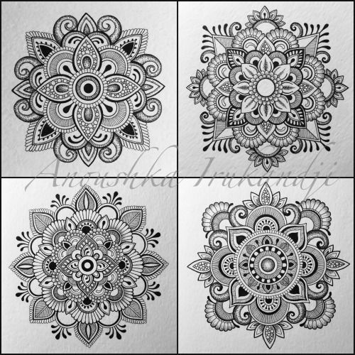 A whole bunch of mandalas… Anoushka Irukandji 2016 www.irukandjidesigns.bigcartel.com