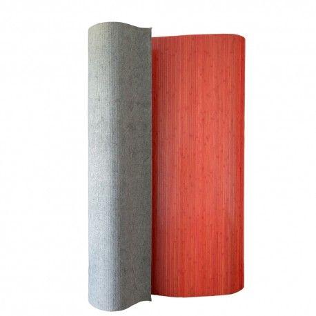 Paravent Raumteiler Trennwand Bambus Sichtschutz Spanische Wand Rot