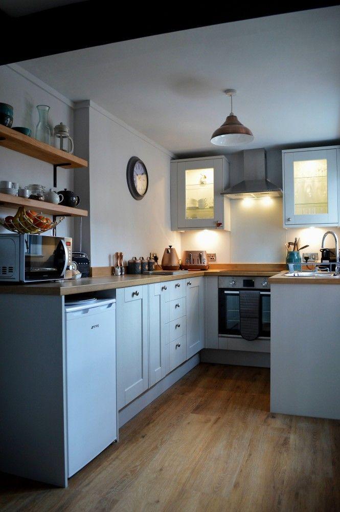 Grey Kitchen, Open Kitchen Shelves, Wooden Flooring, English Kitchen,  Traditional Kitchen,