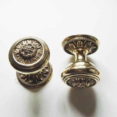 Genuine reclaimed pair of decorative Victorian brass door knobs ...