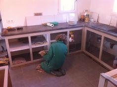 faire sa cuisine en siporex - diy kitchen   deco   pinterest ... - Fabriquer Sa Cuisine En Beton Cellulaire