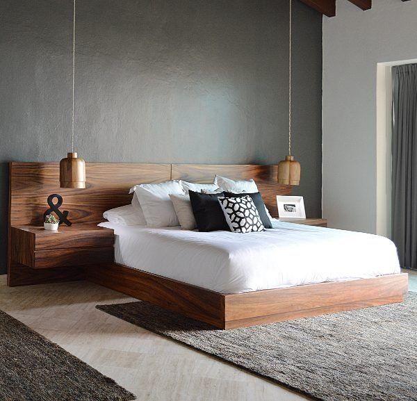Cama madera – cabecera panel | Camas, Recamara y Dormitorio