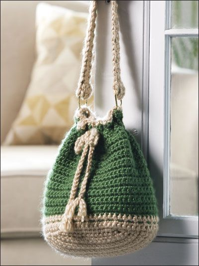 Bucket Bag Finished Size 9 X 10 Made With Super Bulky Yarn And