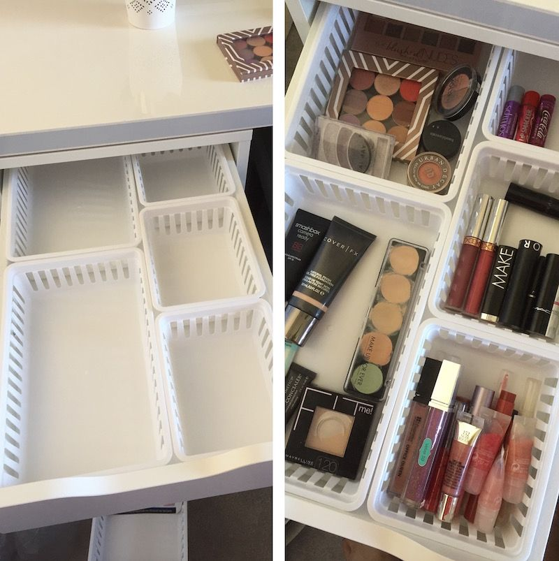 Rangement Maquillage Pratique Et Joli En 20 Idees Originales Maison 2018 Rangements Maquillage Organisation De Stockage Maquillage Tiroirs Alex Ikea