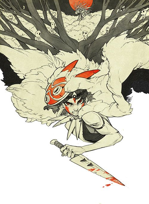Mononoke Print In 2020 Studio Ghibli Art Princess Mononoke Art Ghibli Art