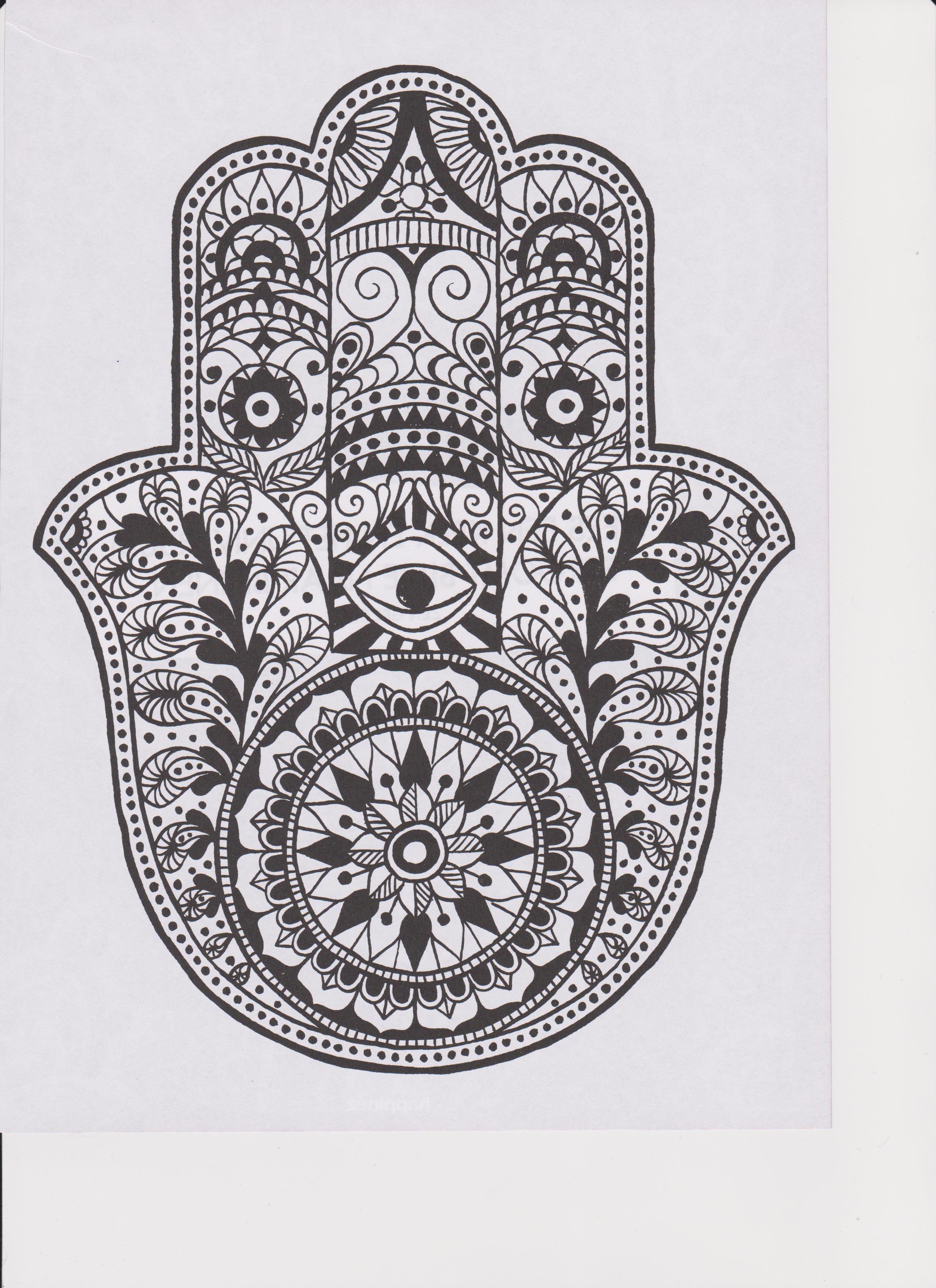 Pin de Danielle Wright en coloring pages | Pinterest | Mano fatima