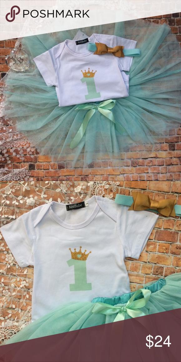 59ca4b089 Boutique Baby Girl First Birthday 3pc Tutu Set Precious baby girl ...
