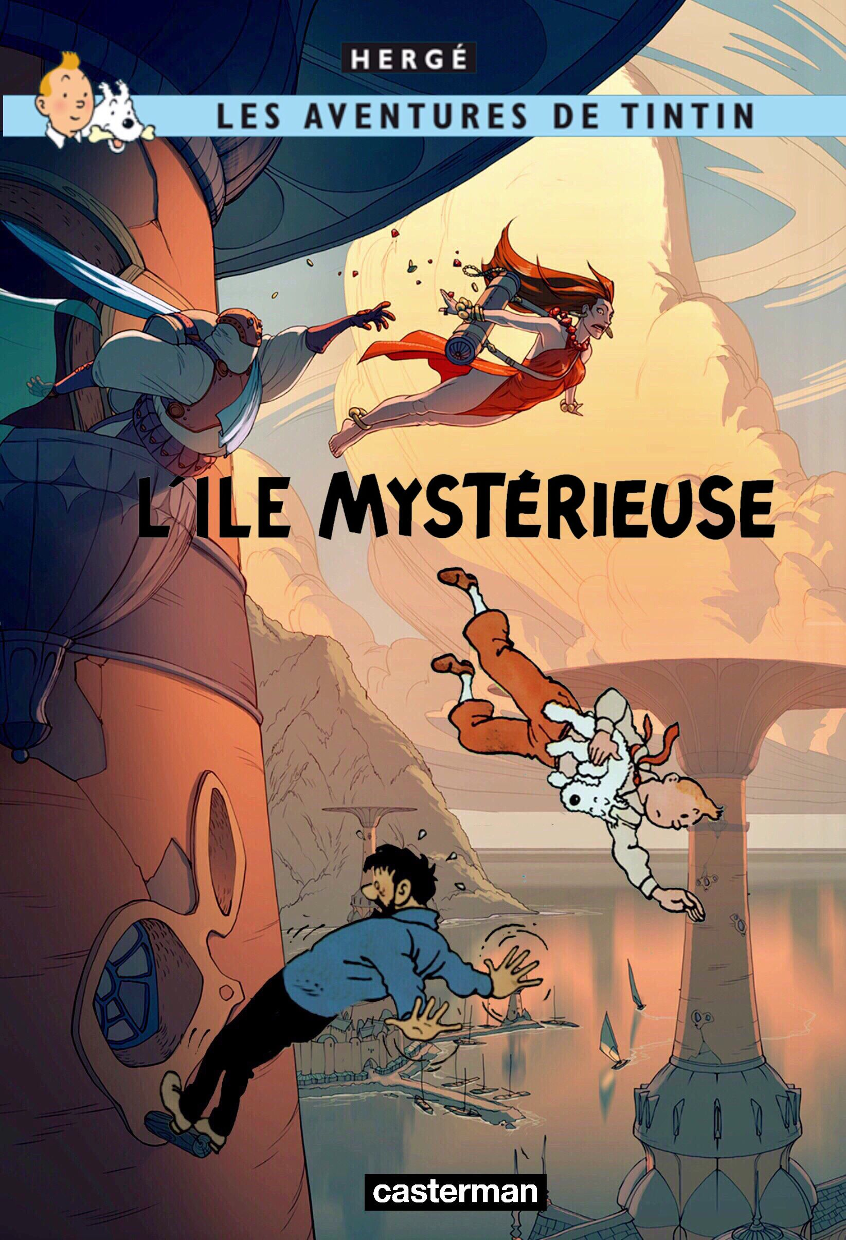 Les Aventures De Tintin Album Imaginaire L Ile Mysterieuse Tintin Herge Bd Tintin