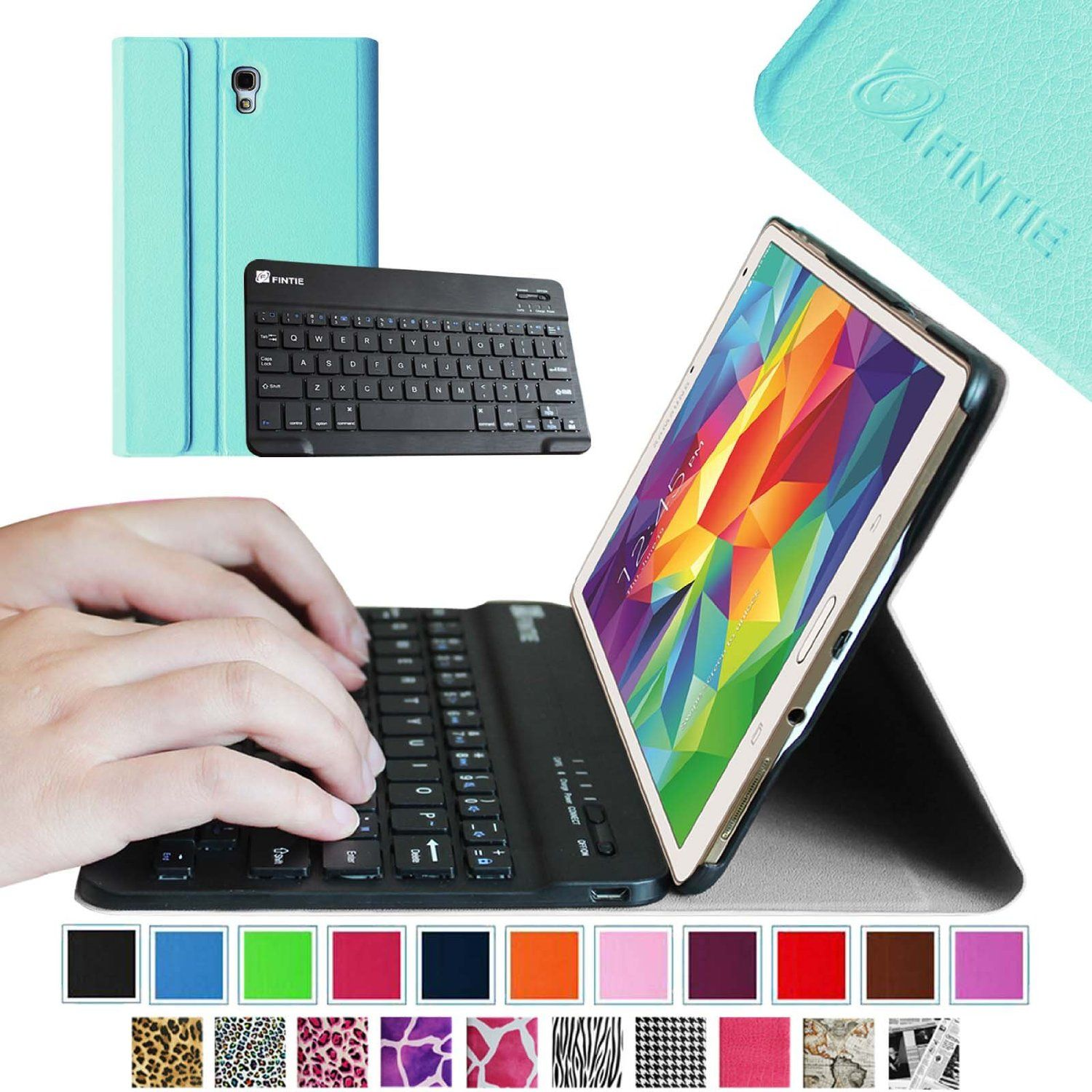 c64228f8465 Amazon.com: Fintie Blade X1 Samsung Galaxy Tab 4 8.0 Keyboard Case Cover -  Ultra Slim Smart Shell Light Weight Stand with Magnetically Detachable  Wireless ...