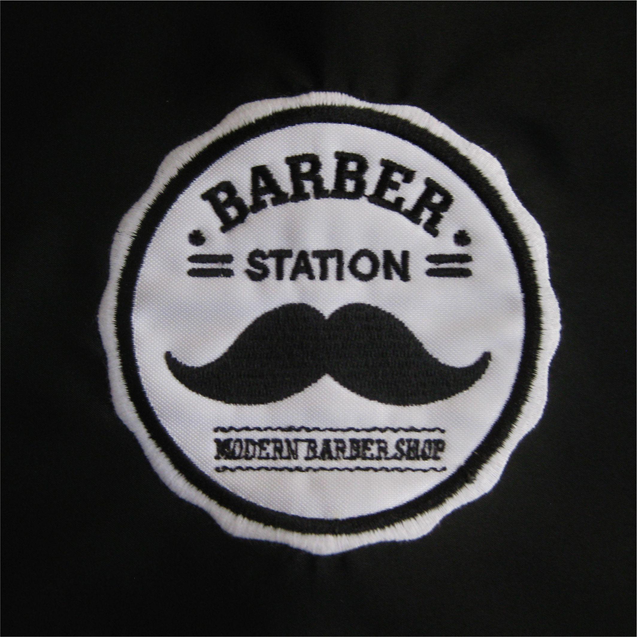 Logo Barber Station Www Botextilprint Es Botextilprint