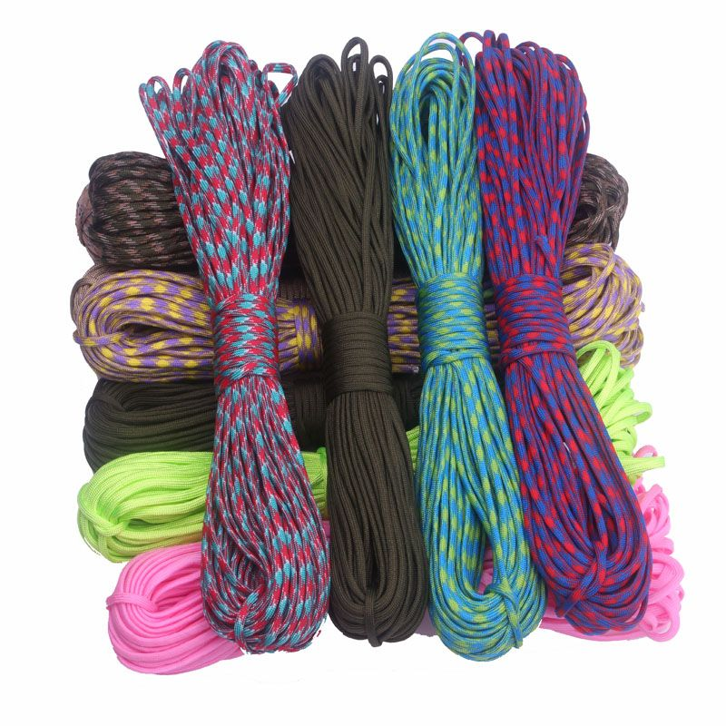 Cheap equip software, Buy Quality survival lighter directly from China equipment holder Suppliers:  210 Colors Paracord 550 100FT Paracord Rope Cuerda Escalada Mil Spec Type III 7Strand Paracorde 550 Outdoor Survival &n