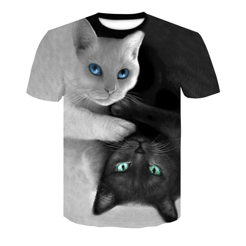 Unisex Tees Casual Short Sleeve O-Neck Fashion Funny Printed 3D T Shirt